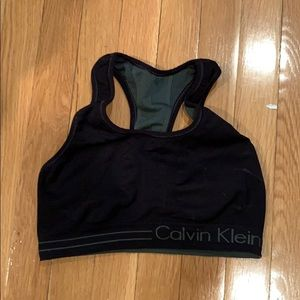 Reversible black and grey Calvin Klien sports bra
